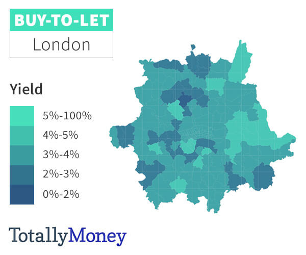Map Of Uk To Buy.Buy To Let Rental Yield Map 2019 Totallymoney